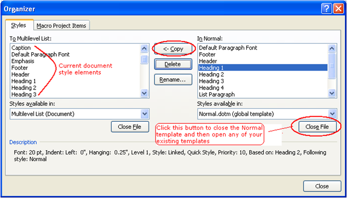 how to delete a heading box in a word document