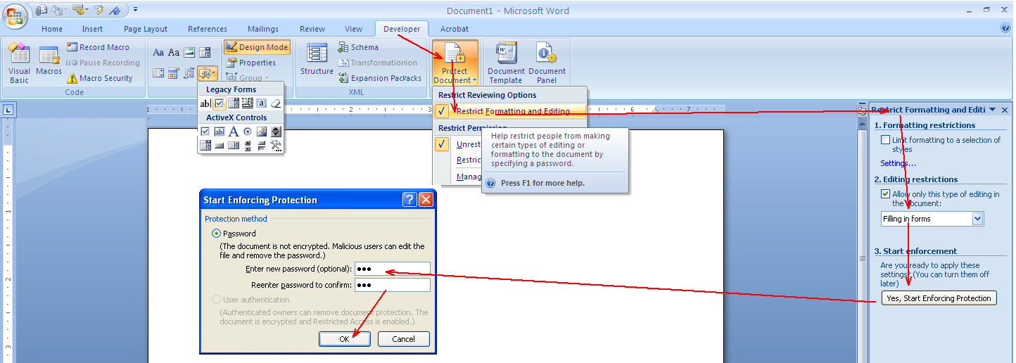 How To Insert A Drop Down List In Word Ms Word Know How