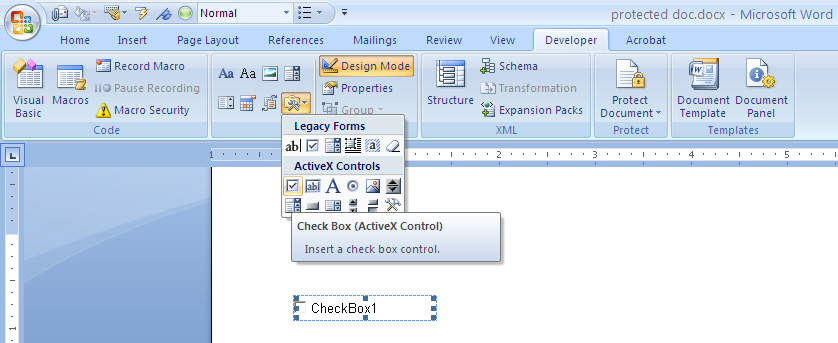 50097 – FILESAVE: FORMCONTROLS: Form controls not saved in .docx
